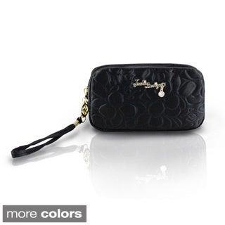 Jacki Design Royal Blossom Cosmetic Bag with Wristlet