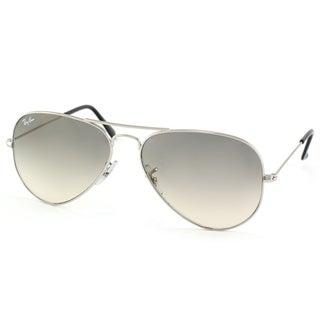 Ray-Ban Silver Gradient Aviator Sunglasses