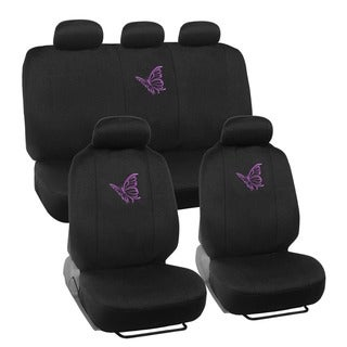 BDK Butterfly Design Car Seat Covers Full set (Universal Fit)