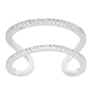 La Preciosa Sterling Silver CZ Open Trendy Ring