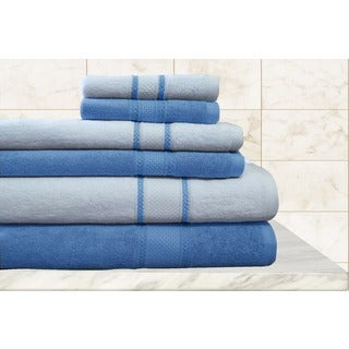 Quick Dry Egyptian Cotton Striped 6-piece Towels Set