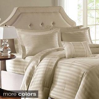 Madison Park 300 Thread Count Cotton Dobby Stripe 4-piece Comforter Set
