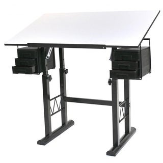 Liz White Top Drawing Table
