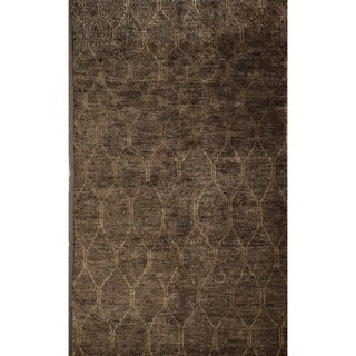 Morocco Brown Hand-knotted Jute Area Rug (5' x 7')