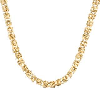 Gioelli 14k Yellow Gold Petite Byzantine Necklace