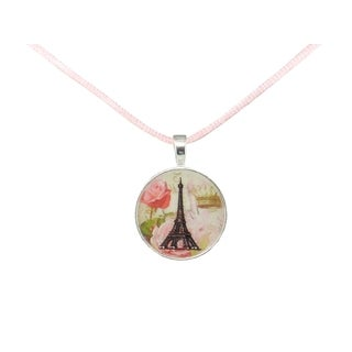 Be The Envy Pink Paris Satin Necklace