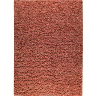 Hand-knotted Toky Red/ Rust New Zealand Wool Rug (4'6x 6'6)