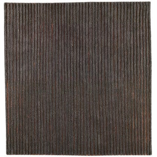 Hand-woven Goa Grey New Zealand Wool Rug (3'x 5'4)