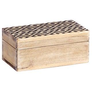 Mela Artisans Ikat Large Mango Wood Box (India)