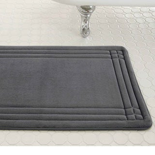 Embossed Memory Foam Geoplex 21-inch by 34-inch Bath Mat
