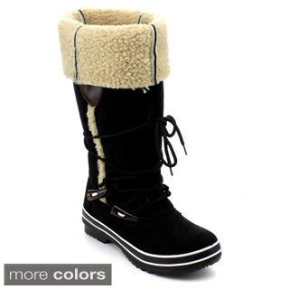 Reneeze Women's 'Lulu-01' Faux Suede Cold-weather Boots