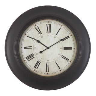 24-inch Roman Wood-grain Clock
