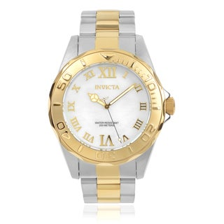 Invicta Men's 17872 'Pro Diver' Stainless Steel Two-tone Roman Numeral Link Watch