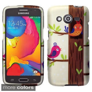 INSTEN Owl Rubberized Hard Snap-On Phone Case Cover For Samsung Galaxy Avant