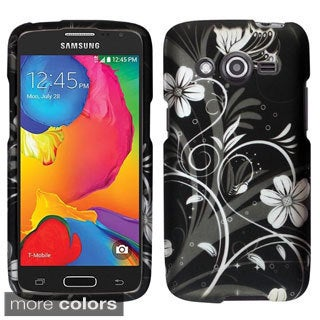INSTEN Flowers Rubberized Hard Snap-On Phone Case Cover For Samsung Galaxy Avant