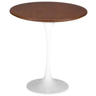 Eero Saarinen Tulip Style Walnut Top Side Table