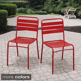 Steel Stackable Chairs (Set of 4)