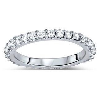 Bliss 14k White Gold 7/8ct TDW Diamond Eternity Wedding Band (G-H, I1-I2)