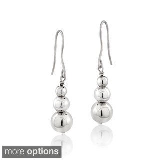 Mondevio Silver Bead Dangle Earrings