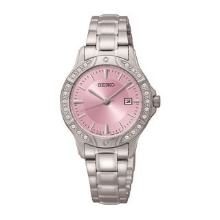Seiko Women's SUR869 Stainless Steel and Crystal Watch