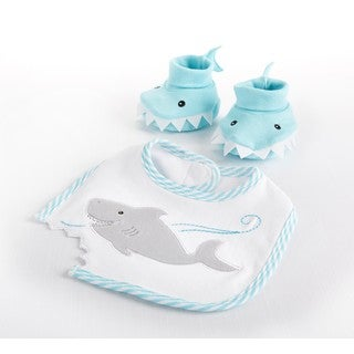 Chomp & Stomp Shark Bib and Booties Gift Set