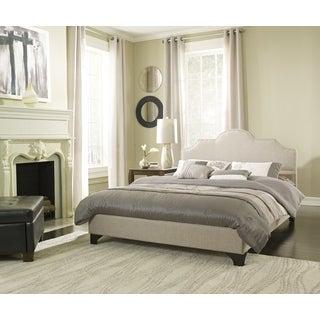 Sleep Sync Honey Brook Taupe Upholstered Platform Bed Complete
