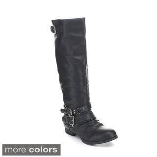 Wild Diva Women's 'Tosca-149' Knee-high Riding Boots