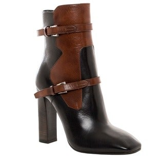 Prada Women's Two-tone Leather Ankle Boots