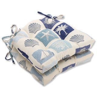 Pillow Perfect Catalina Ocean Reversible Chair Pad (Set of 2)