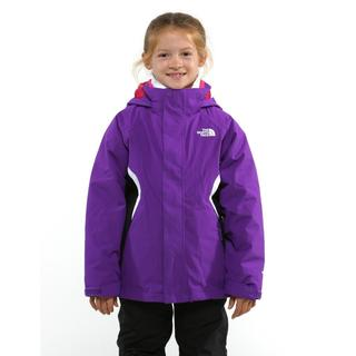 The North Face Girl's Boundry Pixie Purple Triclimate Jacket