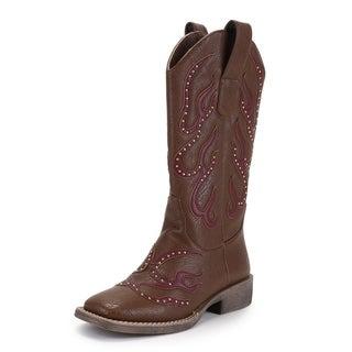 Ann Creek Women's Stud Patch Boots