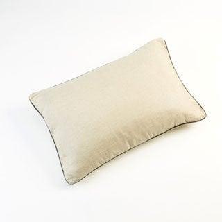 Malmo Pewter Linen Throw Pillow