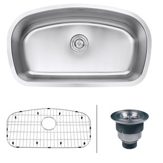 Ruvati RVM4210 Undermount 16-gauge 33-inch Kitchen Sink