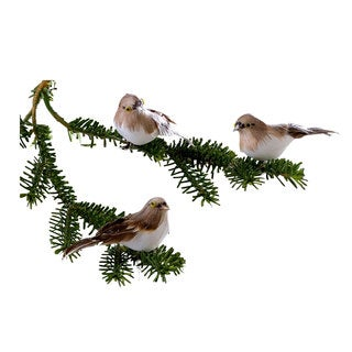 Sage & Co 5-inch Snow Bird Clip-On Christmas Ornaments In Three Variations (Pack of 6)