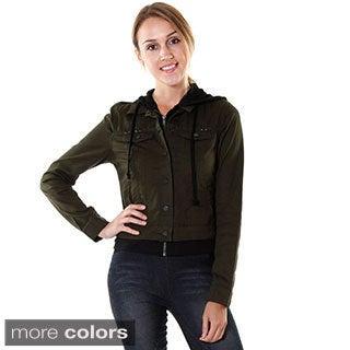 Hadari Women's Layered Hoodie Jacket