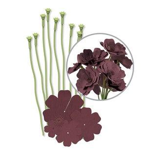We R Crepe Paper Flowers Kit-Brown
