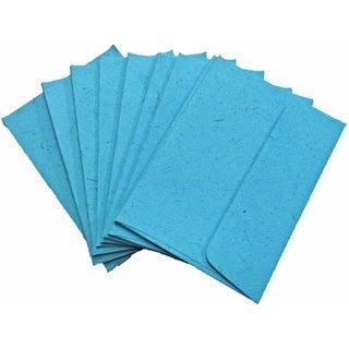 Handmade Elephant Poo Paper A7 Robin's Egg Blue Envelopes (25pcs)