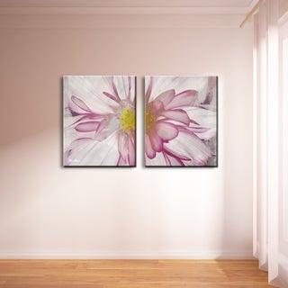Ready2hangart Alexis Bueno 'Painted Petals IV-B' 2-panel Canvas Wall Art
