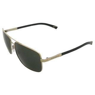 Dolce & Gabbana Men's 'DG 2139 1107/71' Pale Gold and Greyish Green Aviator Sunglasses