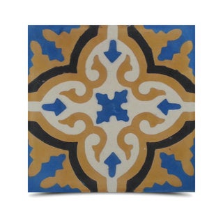 Pack of 12 Argana Sun Handmade Cement and Granite 8-inch x 8-inch Floor and Wall Tile (Morocco)