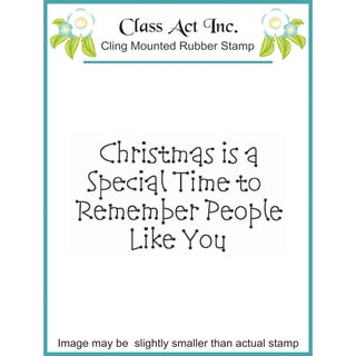 """Class Act Cling Mounted Rubber Stamp 2.75""""X3.75""""-Christmas Is"""