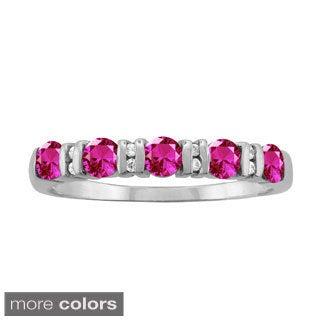 10k White Gold Designer Bezel-set Round-cut Birthstone Ring