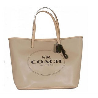 Coach 'Metro' Beige Leather House Carriage Tote