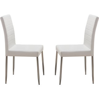 K and B White Metal Dining Chairs (Set of 4)