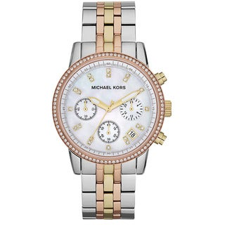 Michael Kors Women's MK5650 Ritz Tri-color Chronograph Watch