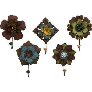 Caldwell Floral Wall Hooks (Set of 5)