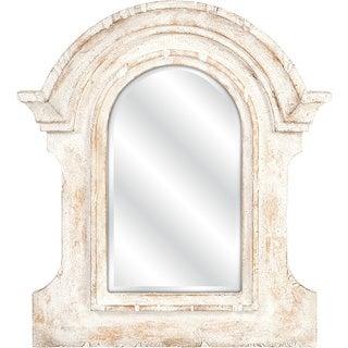 Beautris Distressed White Wall Mirror