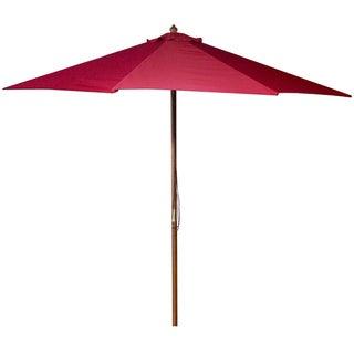 Jordan Manufacturing 9-foot Wooden Market Umbrella