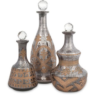 Acadia Glass Decanters (Set of 3)