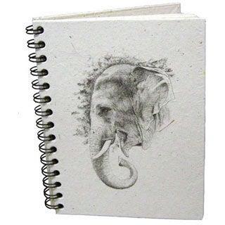 Handmade Dung Paper Profile Sketch Journal (Sri Lanka)